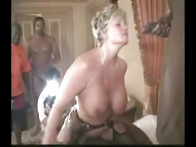 Mature Interracial Gangbang