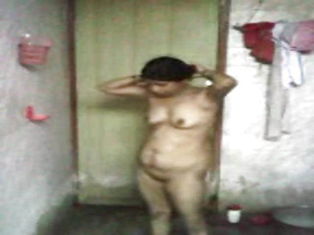 Telugu woman bathing