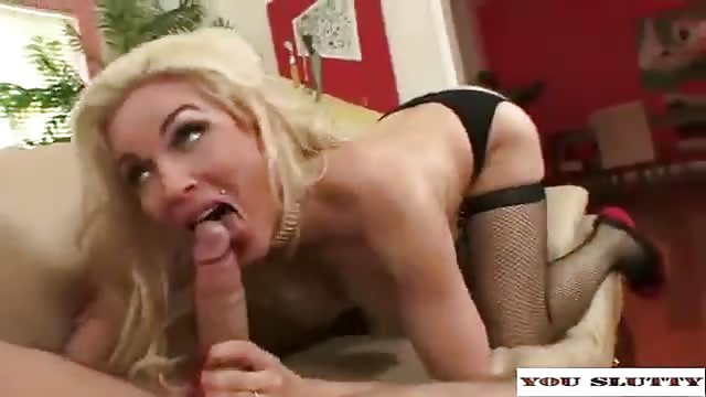 Blonde MILF with big tits wants her pussy stuffed